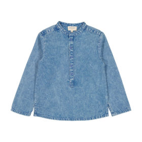 Chemise Grand-Père Chambray washed blue
